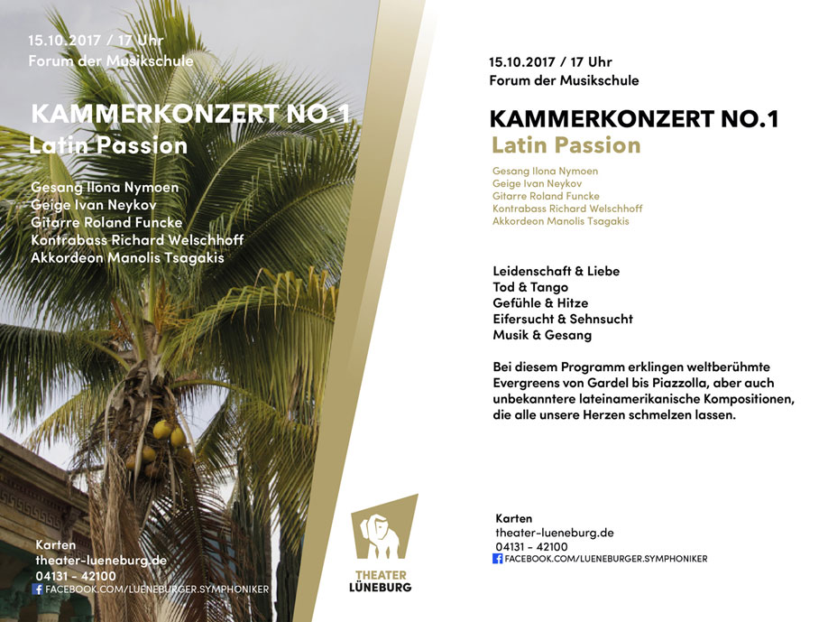 Flyer Kammerkonzert No. 1 - Latin Passion