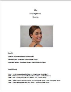 Ilona Nymoen Vita (Lebenslauf)