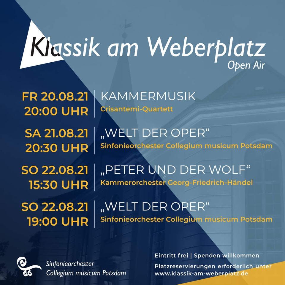 Klassik am Weberplatz - Flyer